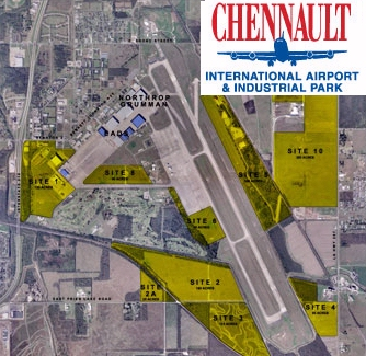 Chennaul Airbase Map Photo by http://www.strategic-air-command.com/bases/Chennault_AFB.htm