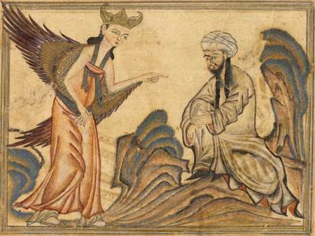 Mohammed Receiving Revelation from the Angel Gabriel Photo From Wikipedia Commons