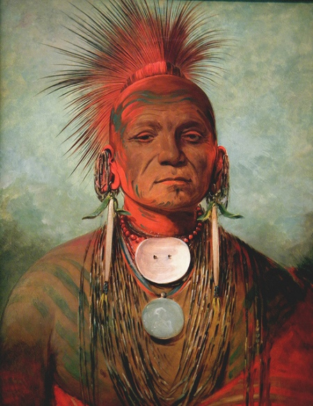 See-non-ty-a, an Iowa Medicine Man, 1844/1845 Photo by leoncillo sabino