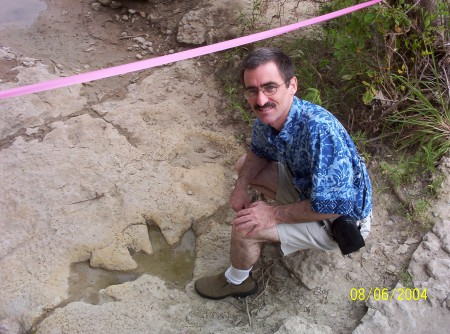 That's Me with the Dino Tracks in August of 2004