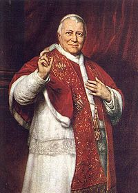 Pope Pius IX Photo by Wikimedia Commons