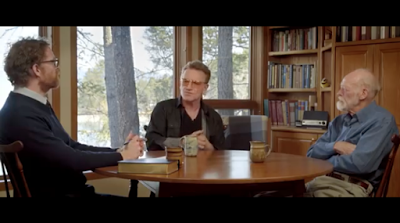 David Taylor of Fuller Seminary, Bono and Eugene Peterson (Source)